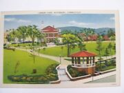 Library Park Waterbury Connecticut Stamped 1948 Postcard. Not Posted. Very Good