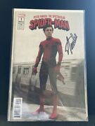 Peter Parker The Spectacular Spider-man 2017 1 Movie Variant Cover Signed