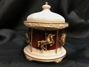 Igor Carl Faberge Jewelled Carousel 14k Gold + Brooches 1979 Franklin Mint