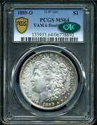 1889-o 1 Morgan Silver Dollar Ms64 Pcgs Cac 06778692 Vam-6 Doubled Date