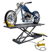 Rml-1500xl Motorcycle Lift Platform With Front Wheel Vise Deluxe Extend