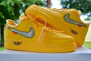 Nike Air Force 1 Af1 Low Off White Ica University Gold Mens 10 Dd1876-700