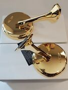1965-66and039 Chevy Impala Bel-air Biscayne 24kt Gold Plated Door Mirrors