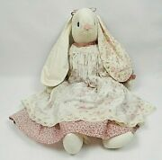 Vintage Primitive Folk Art Easter Bunny Rabbit Doll Spring Country Decor 28and039and039