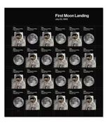 Usps New 1969 First Moon Landing Pane Of 24. 100 Sheets. Factory Sealed.