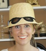 Quintessential Kate Spade Straw Sunglasses Hat - Iconic