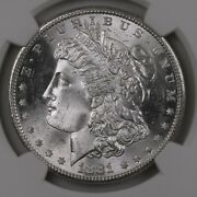 1881 Morgan 1 Ngc Graded Ms66 Mint State Certified Silver Dollar Coin