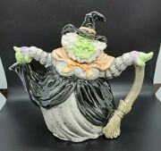 Vintage Beautiful 1988 Fitz And Floyd Witch Teapot - Halloween - 42 Oz Excellent