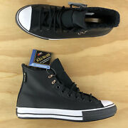 Converse Chuck Taylor All Star High Top Leather Goretex Black Shoes 165936c Size