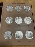 25 Year 1986-2010 American Silver Eagle Dollar 1 World Coin Library Book Mint