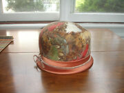 Crisp Vintage Henry Pollak Flapper Cloche 100 Wool Hat Colorful Feather Netting