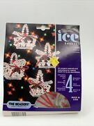 Vintage The Beadery Winter Ice Baskets Beaded Christmas Ornament Kit Makes 4 New