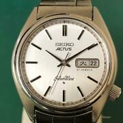 Seiko 6306-8000 1977 Automatic Actus Silver Wave Tested Working Watch 604
