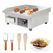 14/22 Electric Countertop Flat Top Griddle 110v Non-stick Grill Barbecue