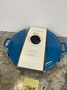 Threshold 3.5qt Round Everyday Pan- Teal Blue Cast Iron Pan - New See