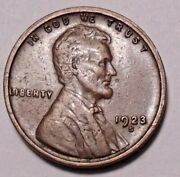 1923 S Lincoln Wheat Cent Penny -  Better Grade -