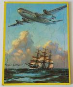 Rare 1951 Saalfield Flying Clippers Tray Puzzle By Gordon Grant / Pan Am Airline