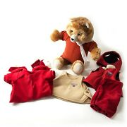 Vintage 1985 Teddy Ruxpin As Is For Parts Repairs With Cassette Tape Outfits
