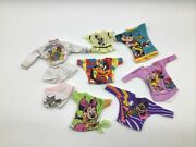 Disney Barbie Doll Cloths Dress Tops Mickey Minnie Mouse Daffy Duck Tom And Jerry