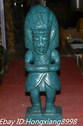 22and039and039 Old Hongshan Culture Blue Turquoise Carving Original Dynasty Noble Statue