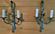 Silver Plate Antique Wall Sconces From E. F. Caldwell Co. New Wiring.