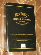 New 6109 Stainless Jack Daniels Single Barrel Flask Leather Wrapped Whiskey