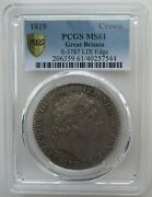 Pcgs Ms61 Great Britain Uk 1819 King George Iii Silver Coin 1 Crown