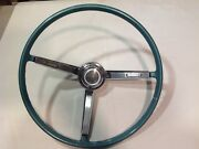 1967 Chevy Chevelle Steering Wheel Horn Ring And Horn Cap Button Vintage Oem