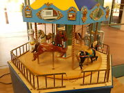 Carousel Full-motion Working Merry-go-round 1/12 Scale Six Horses 27andrdquo Tall