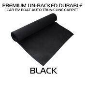 78x100inch Black Bass Boat Trim Carpet Upholstery Auto Floor Trunk Liner Cover