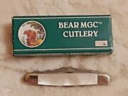 Vintage Bear Mgc Usa 5 Blade Stockman Mother Of Pearl Handles New In Box