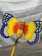 Vintage J. Chein Tin Toybutterfly W/ Lithograph Colors Works