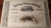 Usa Old Antique American Express Company 100 Dollars Not Cancelled Specimen Bond