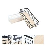2pcs Storage Baskets Good Fine Useful Durable Baskets Containers Organizer