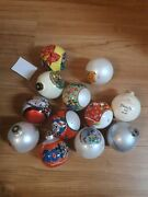 Lot Of 12 Disney Ornaments Glass Balls Christmas Holiday Mickey Mouse Minnie