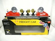 K-line By Lionel 6-22244 Ringling Bros Operating Searchlight Car W/ 3 Spotlights