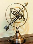 11and039and039 Antique Arrow Armillary Sphere Astrolabe Nautical Vintage Brass Home Decor