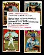 1972 Topps Baseball 201 To 400 Select Cards From Our List