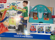 Fisher-price Little People Launch And Loop Raceway Vehicle Playset New 2020 Toy