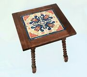 Catalina California Or Mission Arts And Crafts Style Spanish Tile Top Side Table