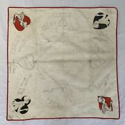 Vintage 1932 Black Jack Gambling Card Table Cover Hand Signed Hand Drawn