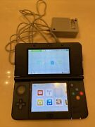 New Nintendo 3ds Super Mario Black Edition System + Oem Charger Tested Working