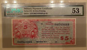 Series 471 5 Five Dollar Mpc Military Payment Certificate Pmg 53 Au The Key