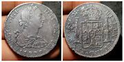 1777 Fm Mexico Spanish Colonial Silver 8 Reales. Revolutionary War Coinage