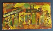 Purvis Young Summer In The City 14 H X 25 W Wood Original Owner Coa