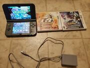 Used And039newand039 Nintendo 3ds Xl Console Black With Stylus And Pokemon Sun And Moon