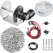 Vevor Electric Anchor Winch Drum Winch Tw240std0.3x295and039 Rope / Chain Full Kit