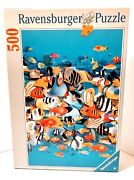 Ravensburger Puzzle Rush Hour Tropical Fish Colorful 500 Pieces Pre-owned