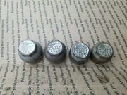4 Ford Model T Axle Covers Grease Caps Hubcap Hub Cover Ford Logo Metal Embossed