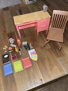 Our Generation School Room Desk Chair And Accessories Fits American Girl Doll 18